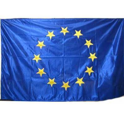 Bandera Europa estrellas bordadas -  oficial