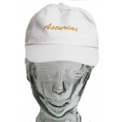 Gorras Asturias bordado - blancas - niños