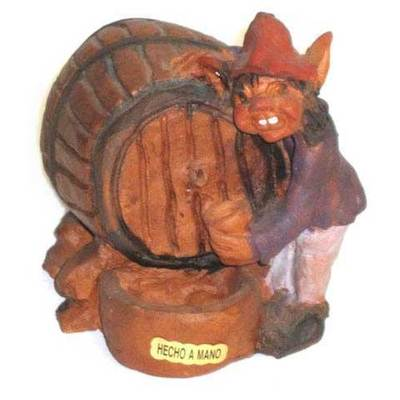Barril con trasgu - espicha cerámica