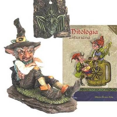 Duende chaman + libro mitologia asturiana