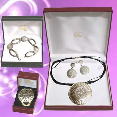 Conjunto motivo celta con pulsera y anillo de plata