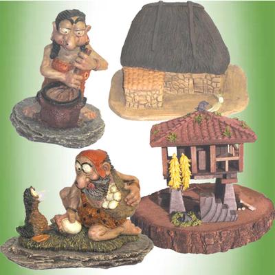 Horreo y Teito con figuras celtas