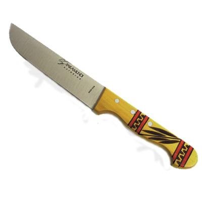 Cuchillos Taramundi hoja grande decorado rojo