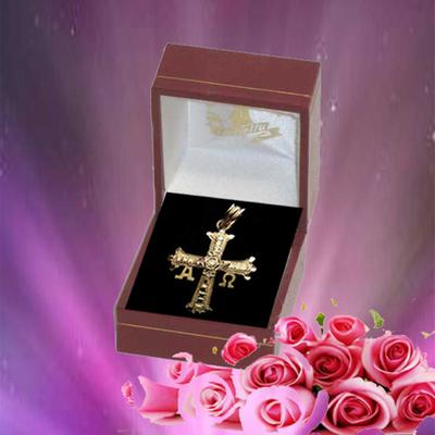 Cruz de la victoria doble - oro