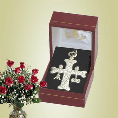 Cruz de la Victoria doble plata grande