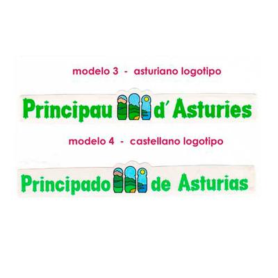 Pegatinas Letras principado de Asturias - logotipo