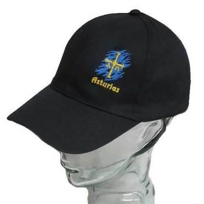 Gorras azul bandera Asturias bordada