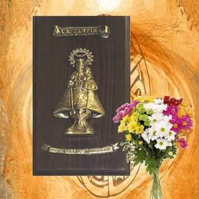 Virgen de Covadonga bronce macizo