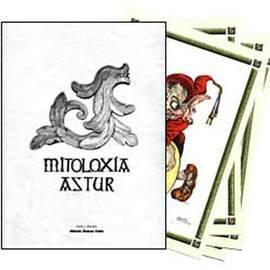 Carpeta de la mitologia asturiana con 4 laminas