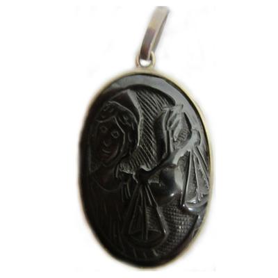 Colgante plata/azabache horoscopo - Libra