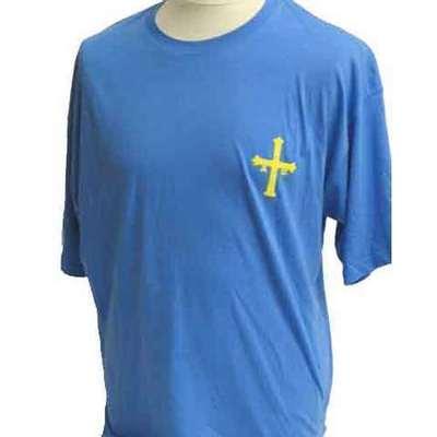 Camiseta puxa Asturies color azul