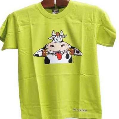 Camiseta Vaca mueca - color pistacho