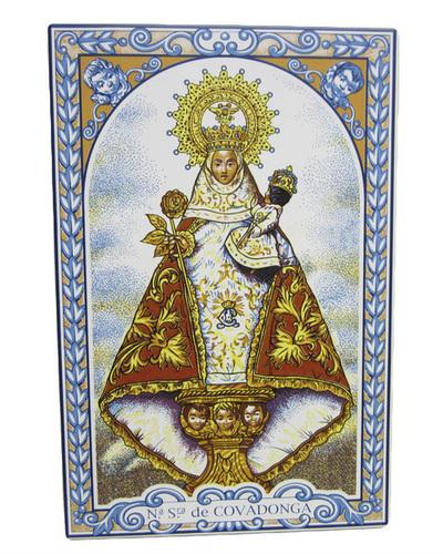 Azulejo Virgen de Covadonga 30 x 20 cm.