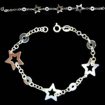 Pulsera plata estrellas