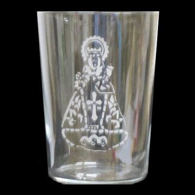 Vaso sidra motivo virgen de Covadonga