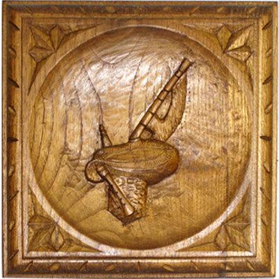 Tabla gaita asturiana tallada - para colgar