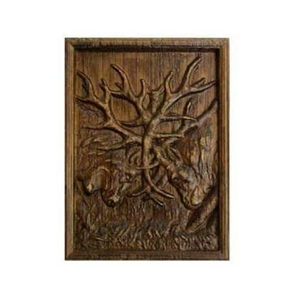 Imán madera talllada fauna asturiana - rebeco