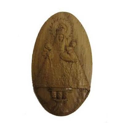 Imán madera tallada Virgen de Covadonga