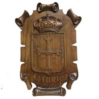 Escudo de Asturias pergamino grande
