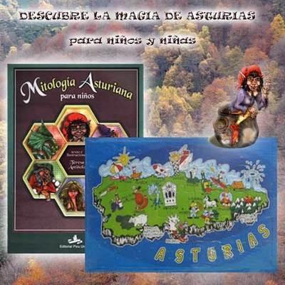 Para niños y niñas libro mitoloíia y puzzle Asturias