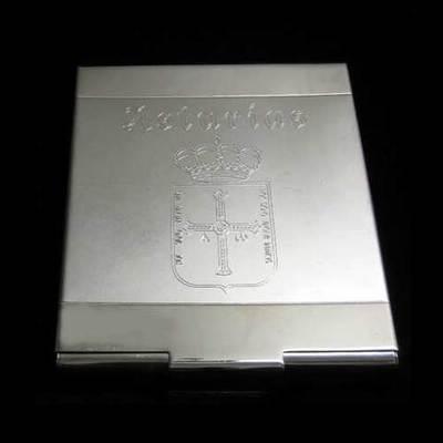 Pitillera con escudo de Asturias grabado
