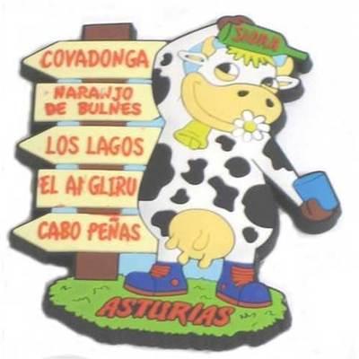 Iman goma Vaca escanciadora señales - Asturias