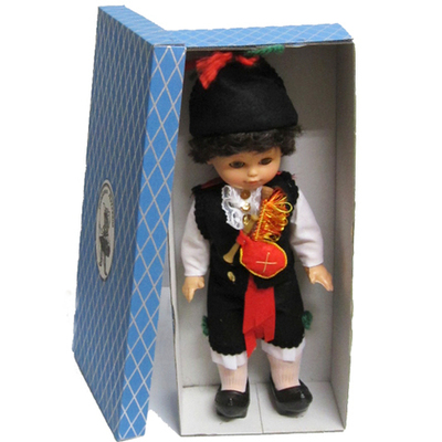 Muñeco traje tradicional mediano