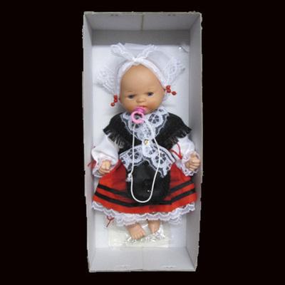 Muñeca asturiana infantil con traje tradicional - Caja