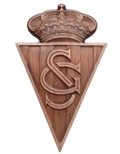Escudo Real Soprting de Gijón  -  para colgar
