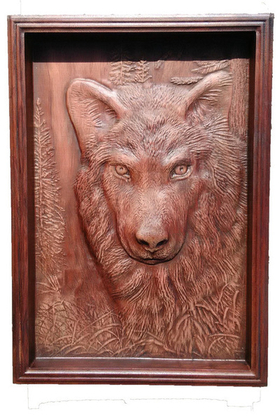 Lobo - Cuadro para colgar