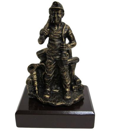 Minero vigilante imitación bronce