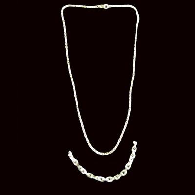 Cadena plata - 45 cm. Ref.1194
