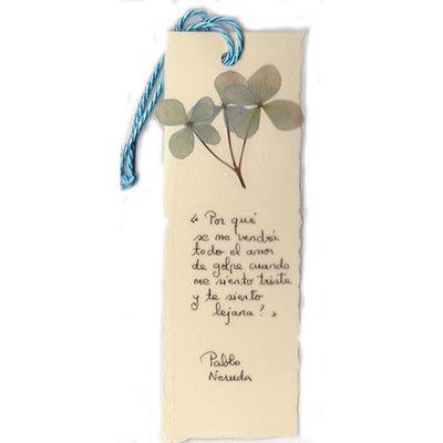 Marca paginas flores secas asturianas