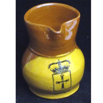 Jarra de barro esmaltada - escudo asturias