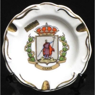 Cenicero plano redondo - escudo Gijon