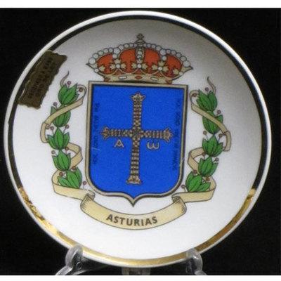 Plato porcelana blanco - motivos asturianos