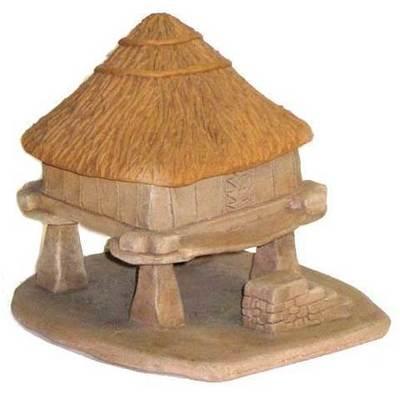 Hórrreo con tejado teito cerámica