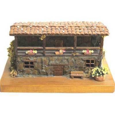 Casa piedra base madera -artesanal