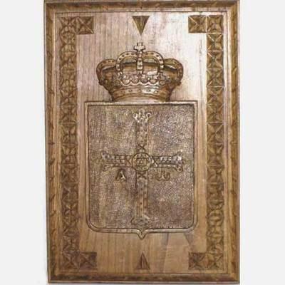 Escudo de Asturias tallas laterales