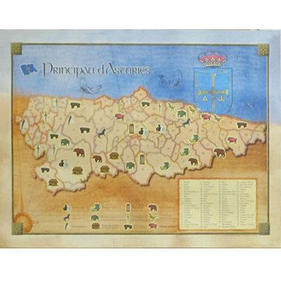 Póster de los Concejos de Asturias - historia