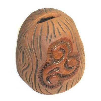 Hucha ceramica motivo trisquel