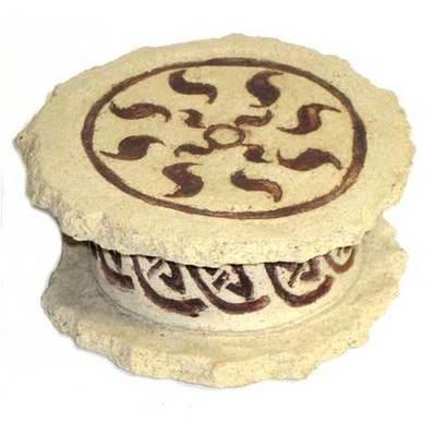 Caja joyero motivo celta - ceramica clara
