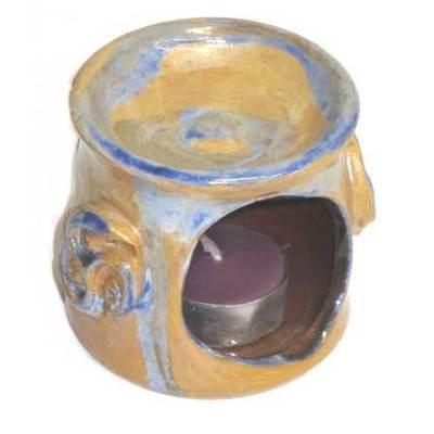 Quemador portavelas cerámica