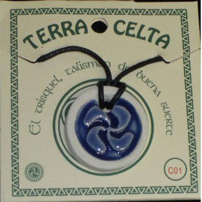 Colgantes ceramica celtas esmaltados