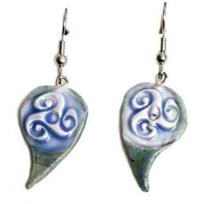 Pendientes ceramica celtas esmaltados - colgar