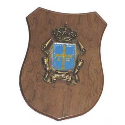 Metopa escudo Asturias colgar