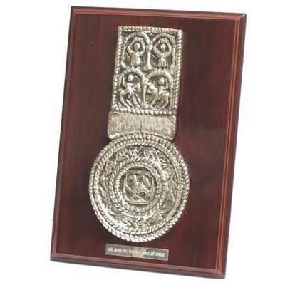 Santa Maria Naranco medallon -placa sobremesa