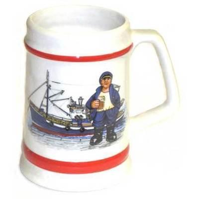 Jarra porcelana varios motivos marineros