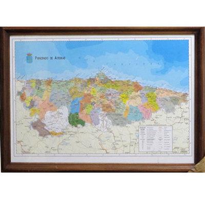 Mapa concejos asturianos en castellano
