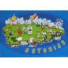 Puzzle mapa de Asturias